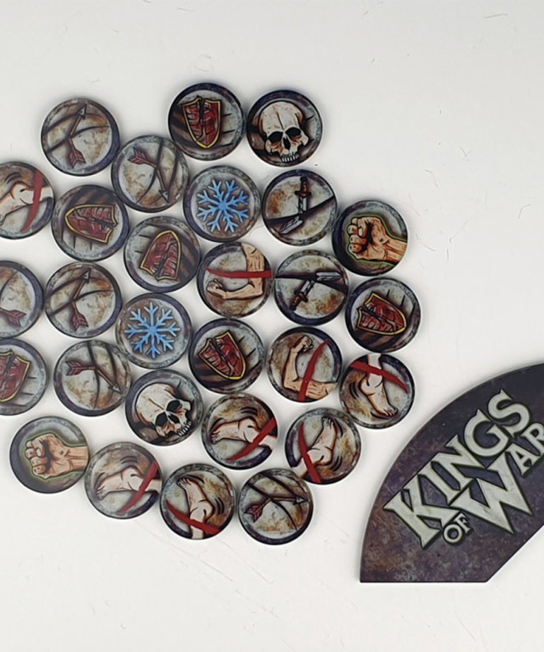 Mantic Games - MG PRESALE - Kings of War 3rd Ed. - Game Tokens & Arc Template - 11/00/2020