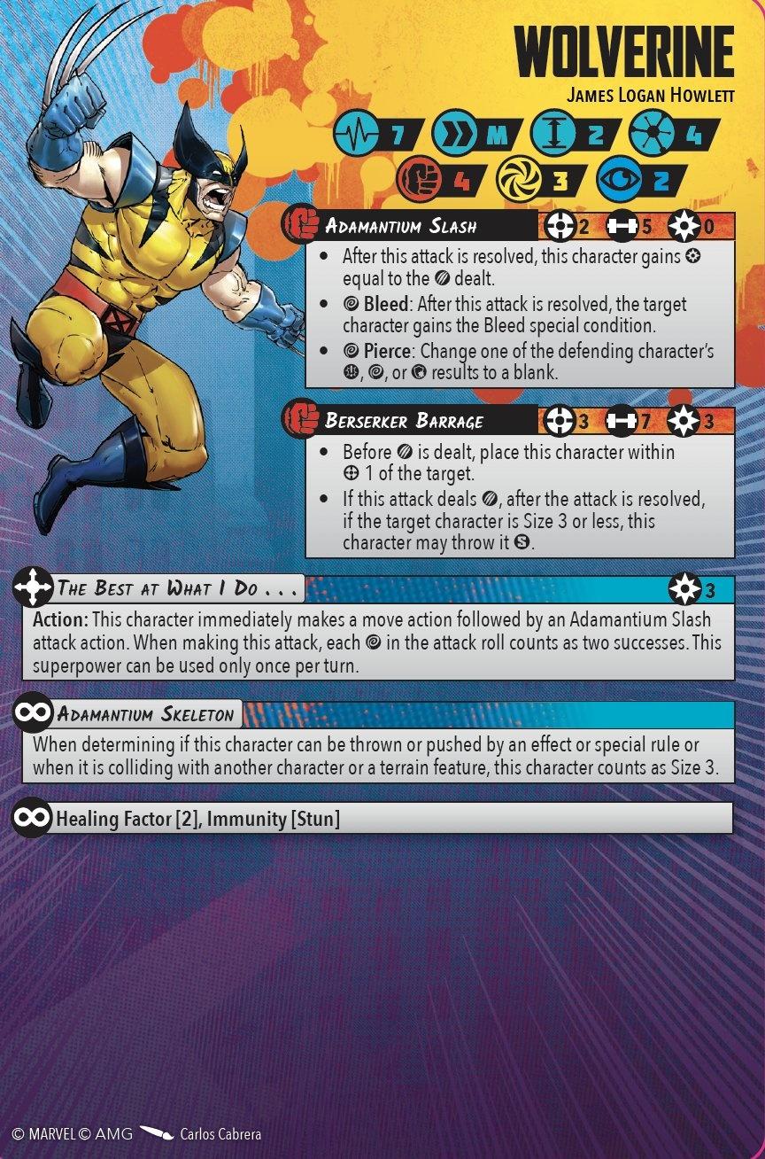 X-Men previews and presales for Marvel: Crisis Protocol