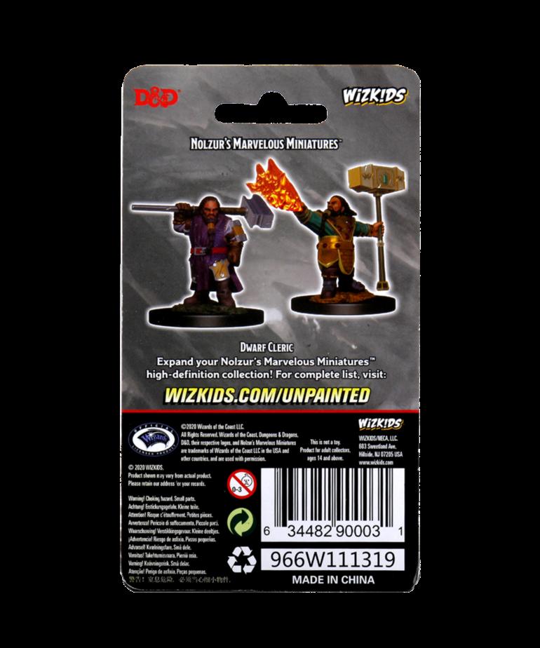 WizKids - WZK D&D: Nolzur's Marvelous Unpainted Miniatures - Dwarf Cleric (He/Him/They/Them)