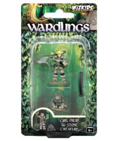 WizKids - WZK Wardlings - Girl Druid & Stone Creature