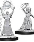 WizKids - WZK D&D: Nolzur's Marvelous Unpainted Miniatures - Drow Mage & Drow Priestess