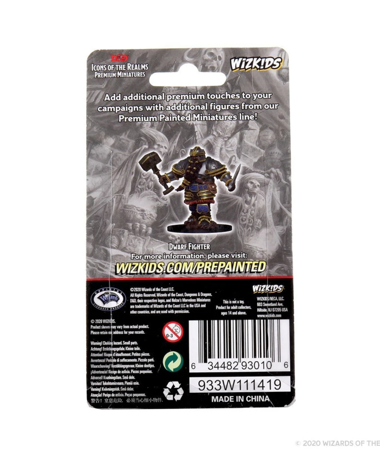 WizKids - WZK D&D: Icons of the Realms - Premium Painted Figures - Dwarf Fighter (He/Him/They/Them)