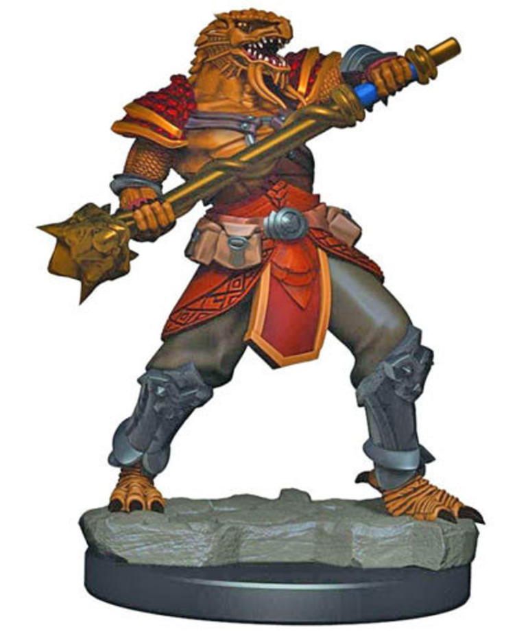 WizKids - WZK D&D: Icons of the Realms - Premium Painted Figures - Dragonborn Fighter (He/Him/They/Them)