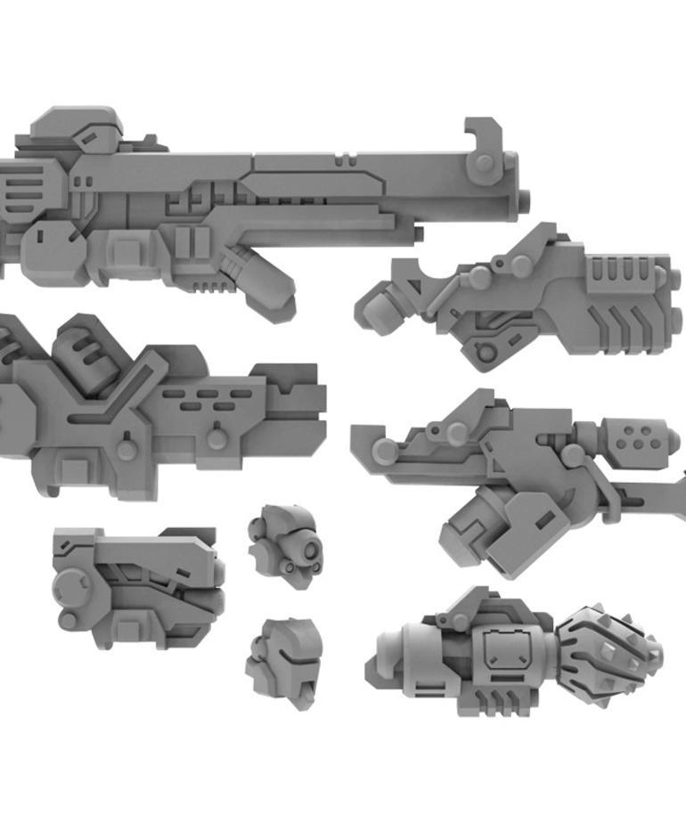 Privateer Press - PIP Warcaster: Neo-Mechanika - Marcher Worlds - Strike Raptor Weapon Pack - Upgrade Kit