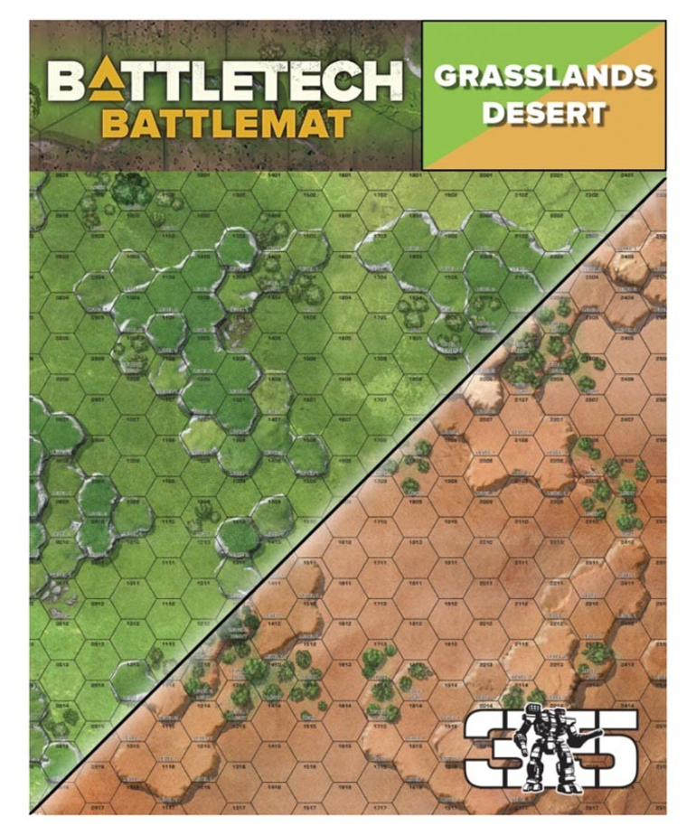 Catalyst Game Labs - CYT Battletech - Battle Mat - Grasslands Desert