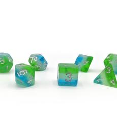 Sirius Dice - SDZ Sirius Dice - Polyhedral 7-Die Set - Blue Hawaiian