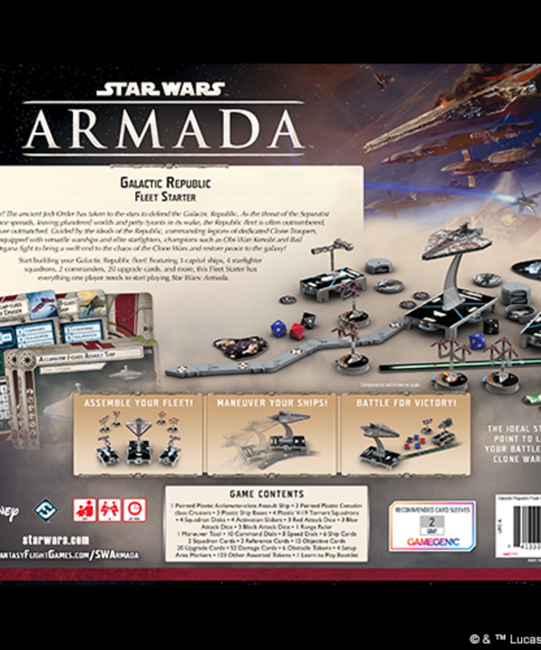 Atomic Mass Games - AMG Star Wars: Armada - Galactic Republic  Fleet Starter