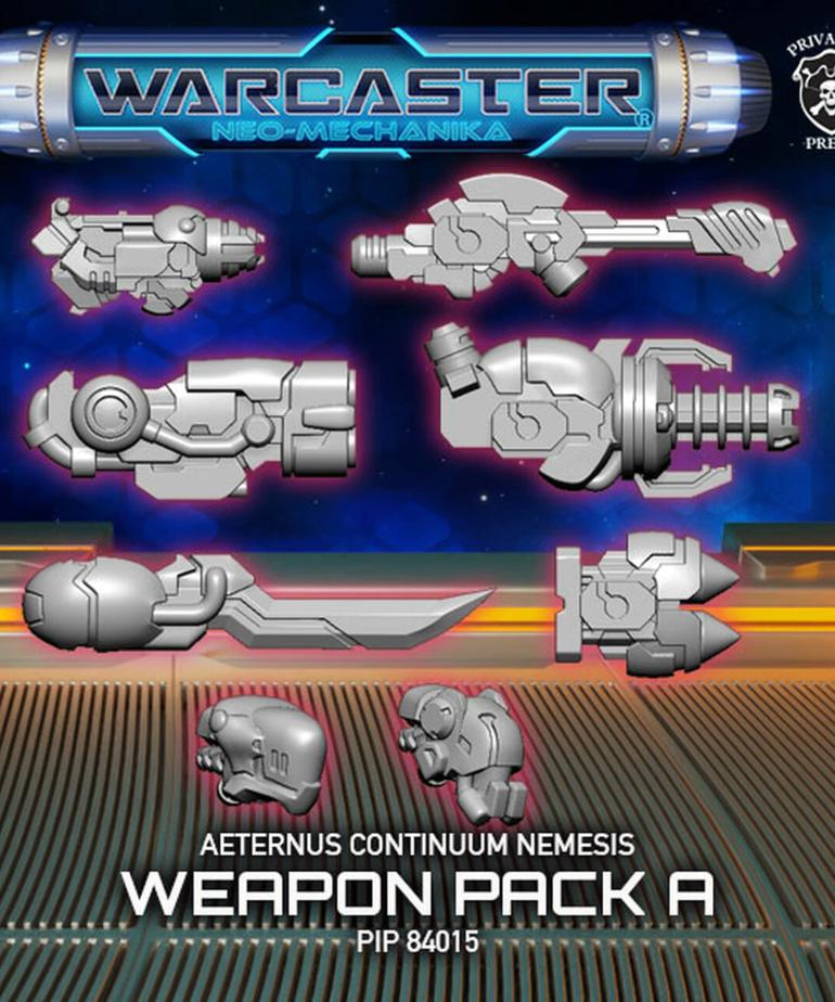 Privateer Press - PIP Warcaster: Neo-Mechanika - Aeternus Continuum - Nemesis A - Weapon Pack