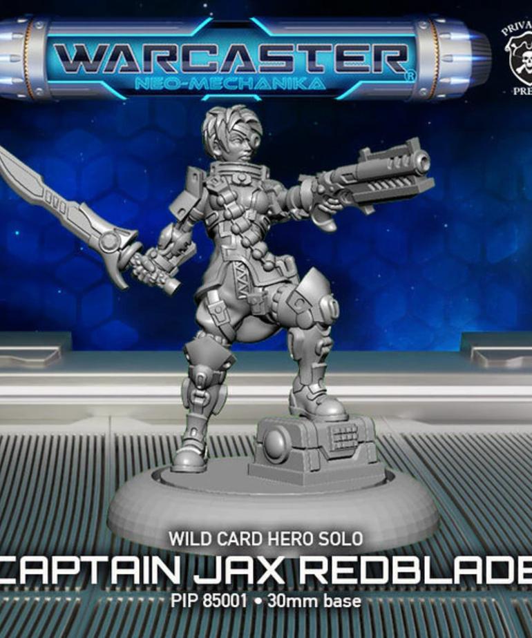Privateer Press - PIP Warcaster: Neo-Mechanika - Wild Card - Captain Jax Redblade - Hero