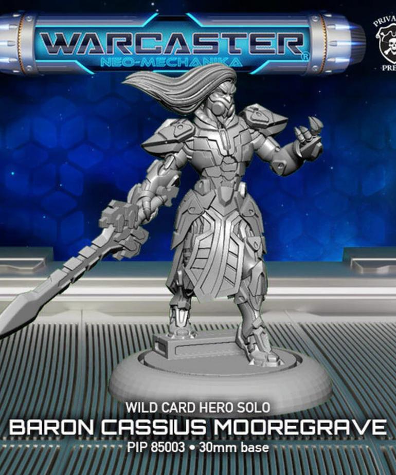 Privateer Press - PIP Warcaster: Neo-Mechanika - Wild Card - Baron Cassius Mooregrave - Hero