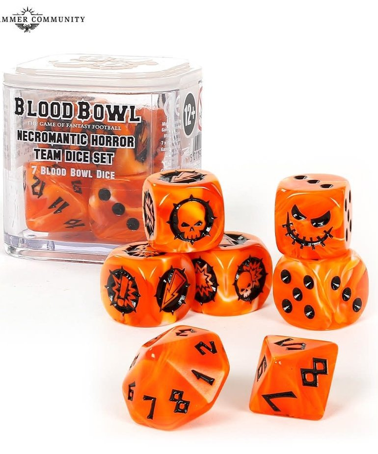Games Workshop - GAW Blood Bowl - Necromantic Horror Team Dice Set