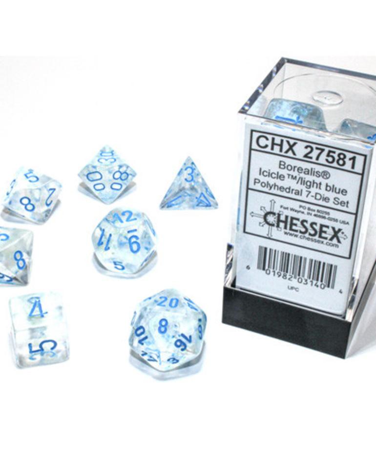 Chessex - CHX Chessex 7-Set Borealis Luminary Icicle w/ Light Blue