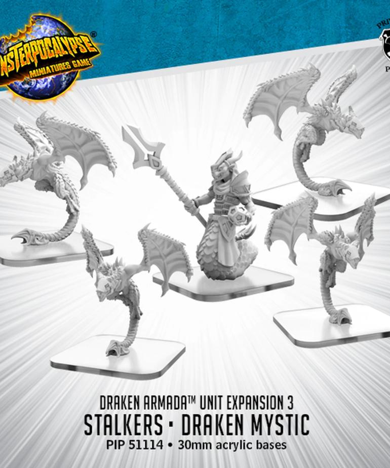 Privateer Press - PIP Monsterpocalypse - Draken Armada - Stalkers & Draken Mystic - Unit