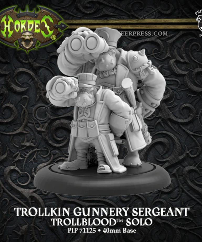 Privateer Press - PIP Hordes: Trollbloods - Trollkin Gunnery Sergeant - Solo