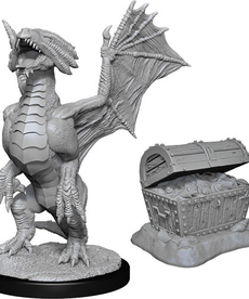 WizKids - WZK Bronze Dragon Wyrmling & Pile of Sea Found Treasure