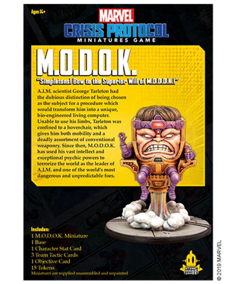 Atomic Mass Games - AMG Marvel: Crisis Protocol - M.O.D.O.K. / MODOK - Character Pack BLACK FRIDAY NOW