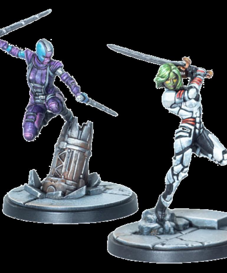 Atomic Mass Games - AMG Marvel: Crisis Protocol - Gamora & Nebula - Character Pack