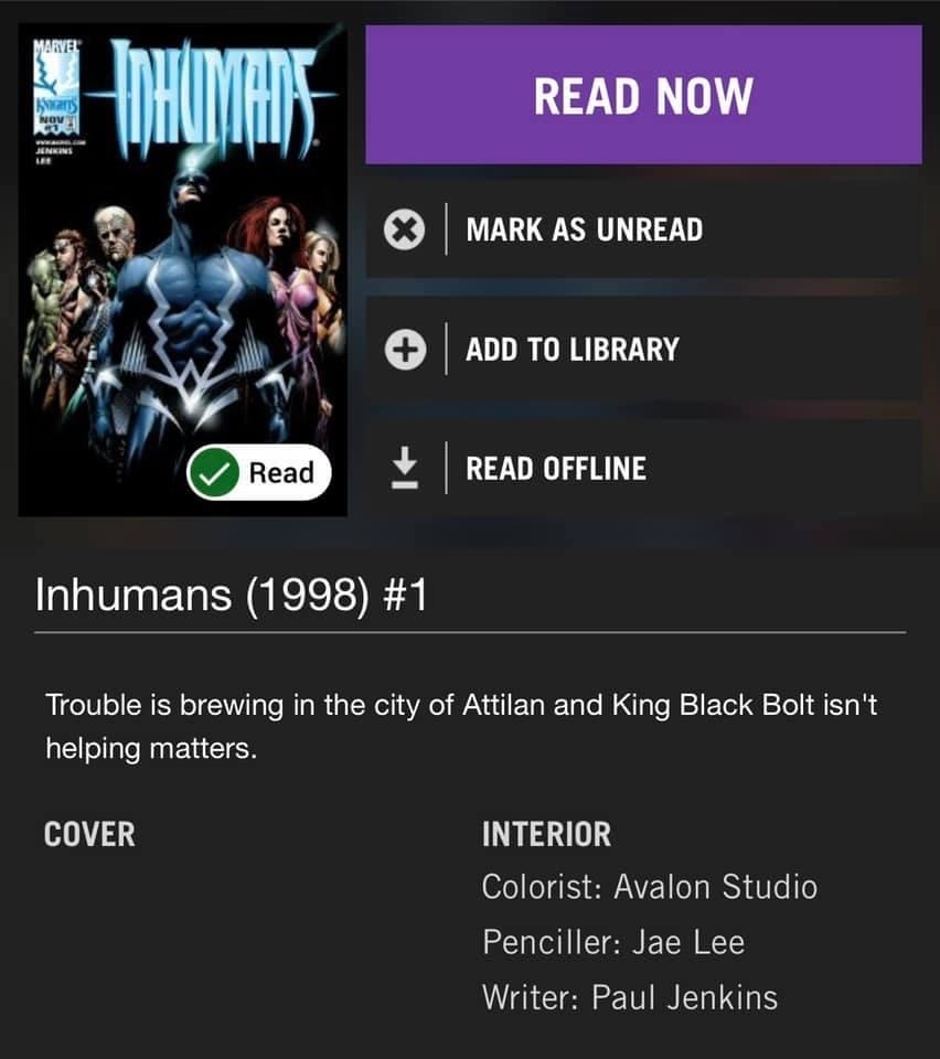 Comics to read for the Inhumans!