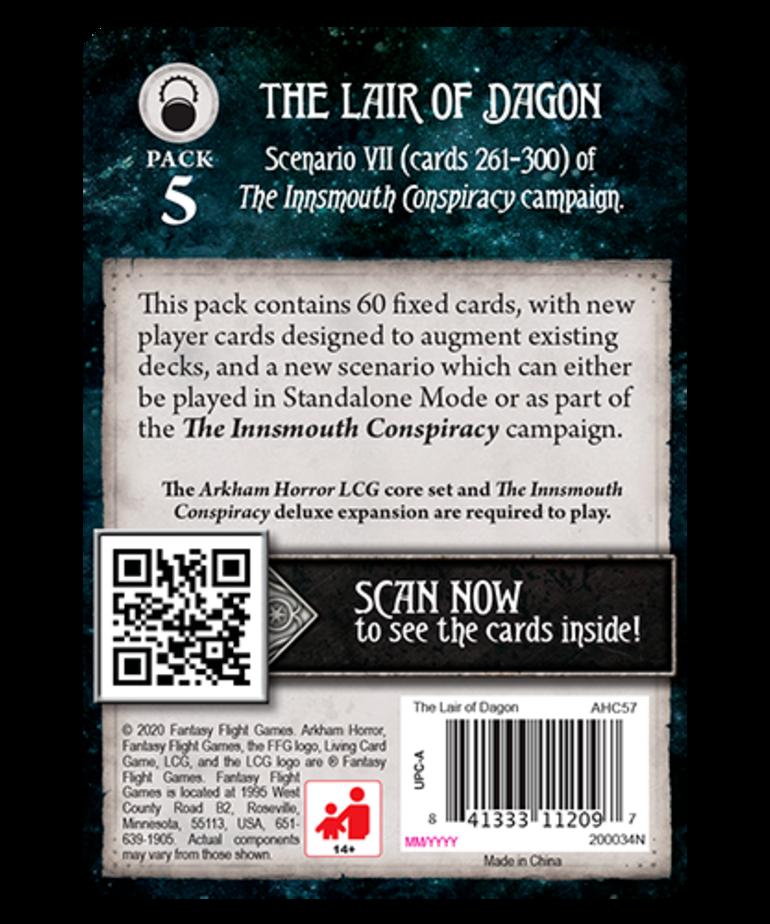 Fantasy Flight Games - FFG Arkham Horror: The Card Game - The Lair of Dagon - Mythos Pack