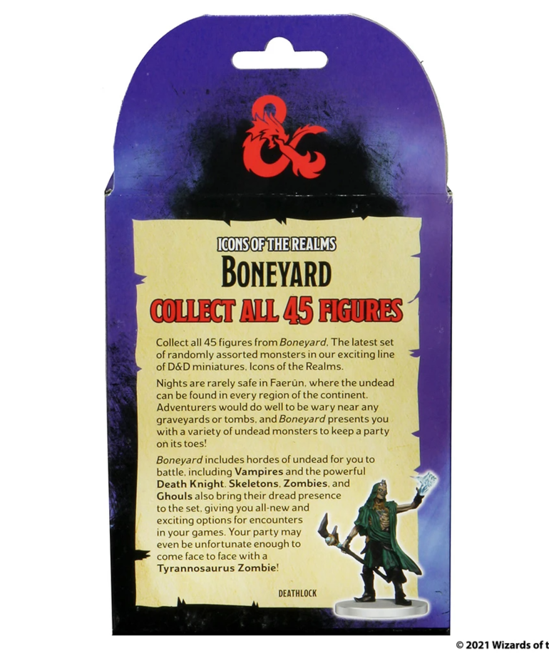 WizKids - WZK D&D: Icons of the Realms - Boneyard - Booster Pack