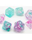 Chessex - CHX Chessex - Polyhedral 7-Die Set - Nebula Luminary - Wisteria w/ White