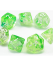 Chessex - CHX Chessex - Polyhedral 7-Die Set - Nebula Luminary - Spring w/ White