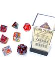 Chessex - CHX Chessex - Polyhedral 7-Die Set - Nebula Luminary - Primary w/ Turquoise