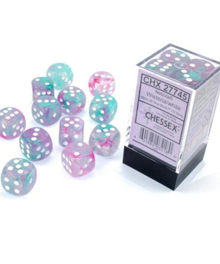 Chessex - CHX Chessex - 16mm Dice Block - Nebula Luminary - Wisteria w/ White