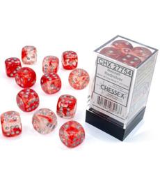 Chessex - CHX Nebula Luminary - Red w/ Silver
