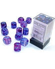 Chessex - CHX Chessex - 16mm Dice Block - Nebula Luminary - Nocturnal w/ Blue