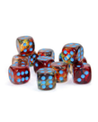 Chessex - CHX Chessex - 16mm Dice Block - Nebula Luminary - Primary w/ Turquoise