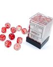 Chessex - CHX Chessex - 12mm Dice Block - Nebula Luminary - Red w/ Silver
