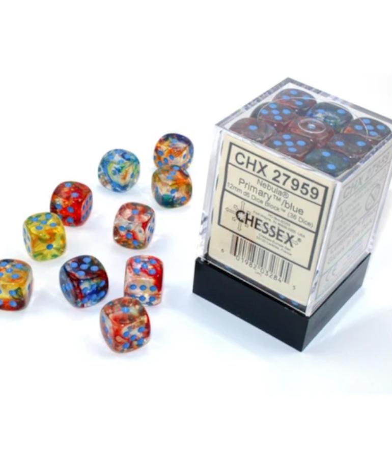 Chessex - CHX Chessex - 12mm Dice Block - Nebula Luminary - Primary w/ Turquoise
