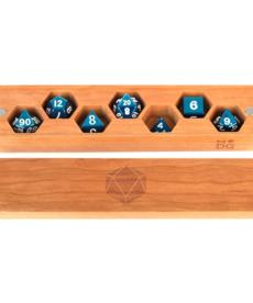Metallic Dice Games - LIC Wood Dice Vault - Cherry