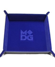 Metallic Dice Games - LIC Folding 10x10 -  Velvet - Blue