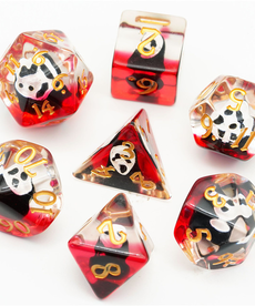Udixi Dice - UDI Resin Ghostface - Red & Clear w/ Gold