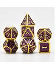 Udixi Dice - UDI Udixi Dice - Polyhedral 7-Die Set - Metal - Purple Sapphie Enamel w/ Gold Plating