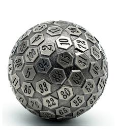 Udixi Dice - UDI D100 - Plated Ancient Metal - Silver