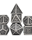 Udixi Dice - UDI Udixi Dice - Polyhedral 7-Die Set - Barrel Ancient Metal - Nickel