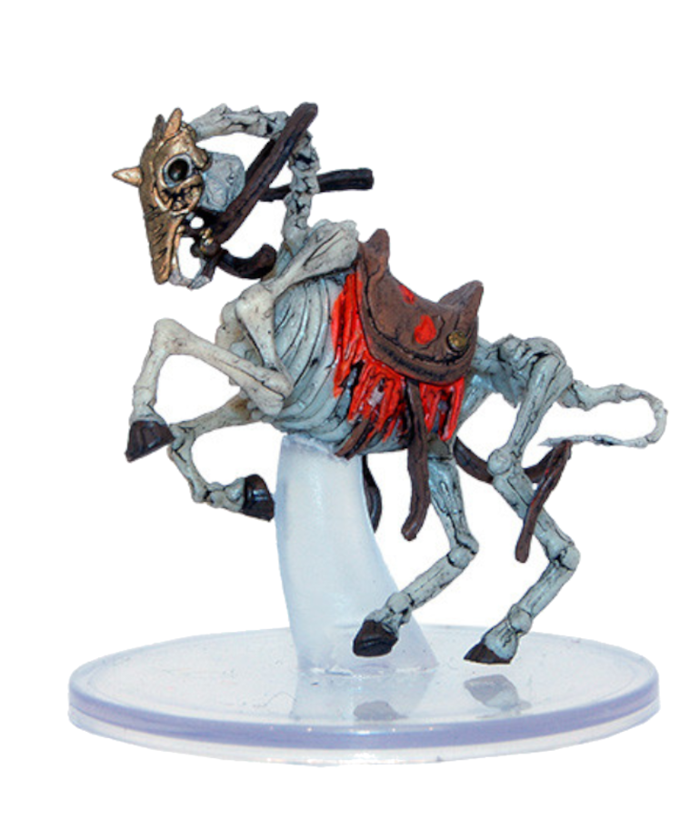 WizKids - WZK D&D: Icons of the Realms - Boneyard - Warhorse Skeleton (U) #29