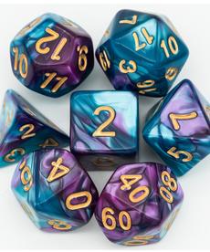 Udixi Dice - UDI Color Mixed - Purple & Blue w/ Gold