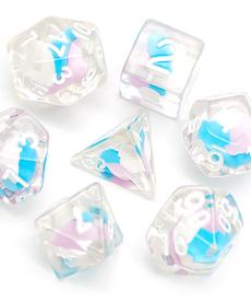 Udixi Dice - UDI Cotton Candy - Pink, White & Blue