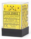 36-die 12mm d6 Set Yellow w/black Opaque