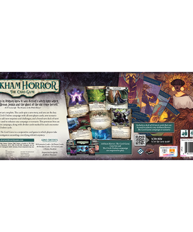 Fantasy Flight Games - FFG PRESALE Arkham Horror: The Card Game - Return to the Circle Undone - Expansion 07/16/2021