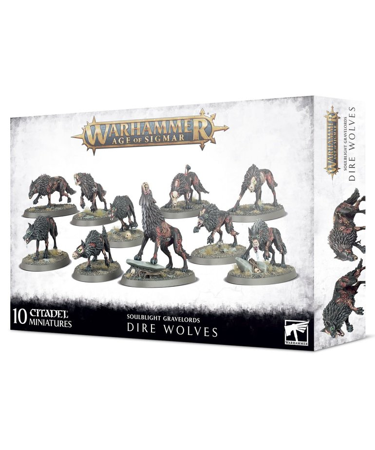 Games Workshop - GAW Warhammer: Age of Sigmar - Soulblight Gravelords - Dire Wolves