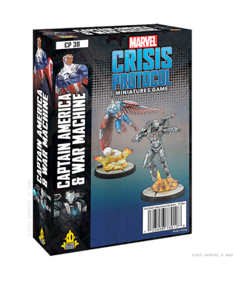 Atomic Mass Games - AMG Marvel: Crisis Protocol - Captain America & War Machine - Character Pack