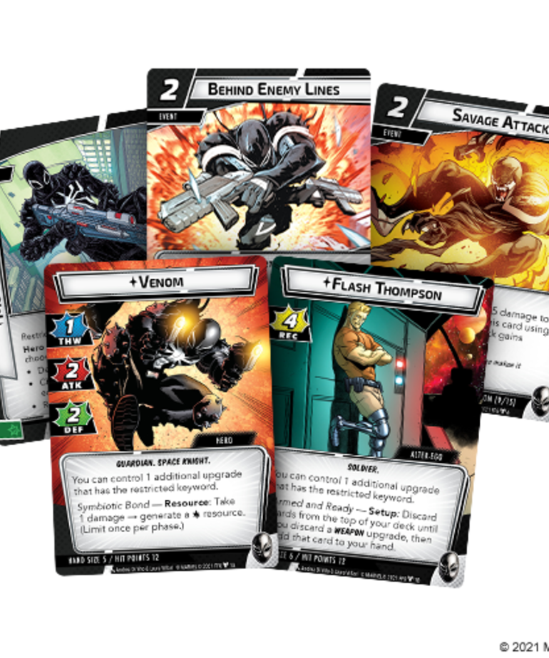 Fantasy Flight Games - FFG PRESALE Marvel Champions: The Card Game - Venom - Hero Pack 07/16/2021