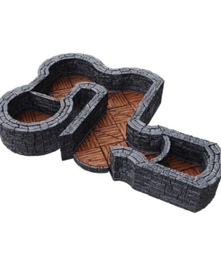 WizKids - WZK WizKids - WarLock Tiles - Dungeon Tiles Expansion - One Inch Angles & Curves