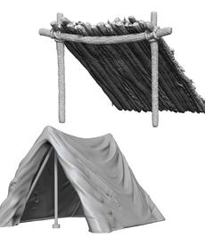 WizKids - WZK Wave 10 - Tent & Lean-To