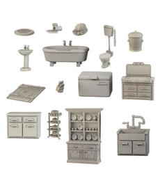 Mantic Entertainment, LTD - MGC Terrain Crate - Bathroom & Kitchen